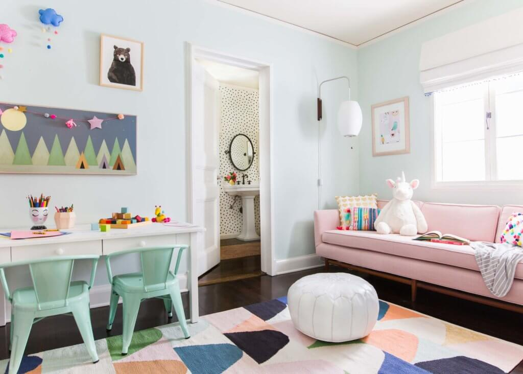 01_Ginny_Macdonald_Full-Design_Girls-Playroom_Whimsical_Pink_Playful