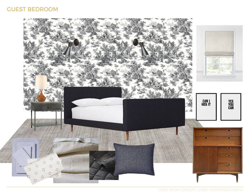 05_Ginny_Macdonald_Full-Design_Guest_bedroom_toile_sophisticated_Traditional_moodboard