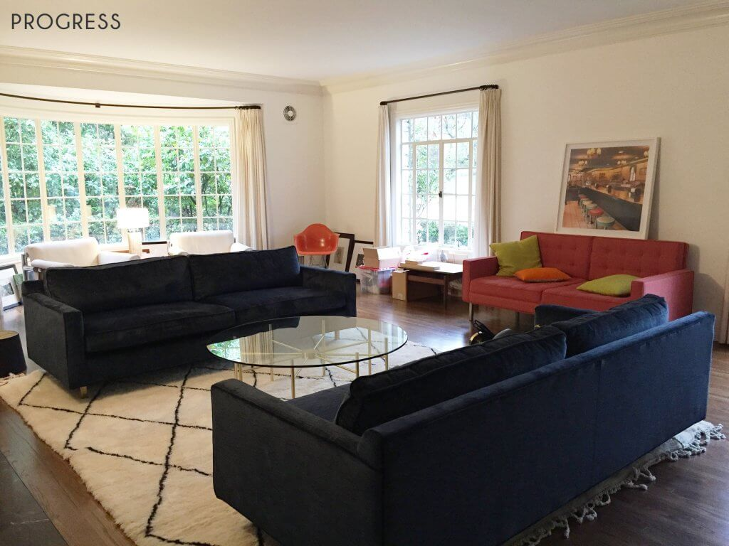08_Ginny_Maconald_Griffith-Park-Home_Traditional_Italian_Mid-Century_Living_Room-Progress
