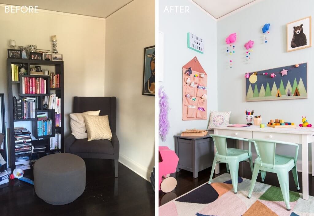 12_Playroom_Girls_Bright_Happy_Modern_Ginny_Macdonald_Before_Side-by-Side_After
