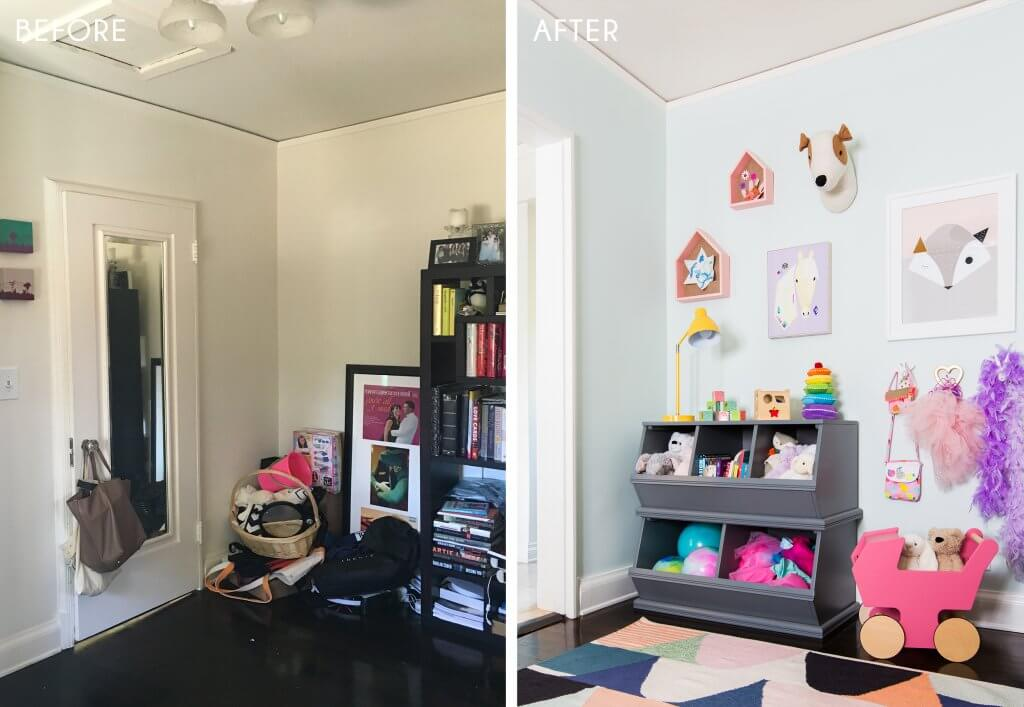 13_Playroom_Girls_Bright_Happy_Modern_Ginny_Macdonald_Before_Side-by-Side_After