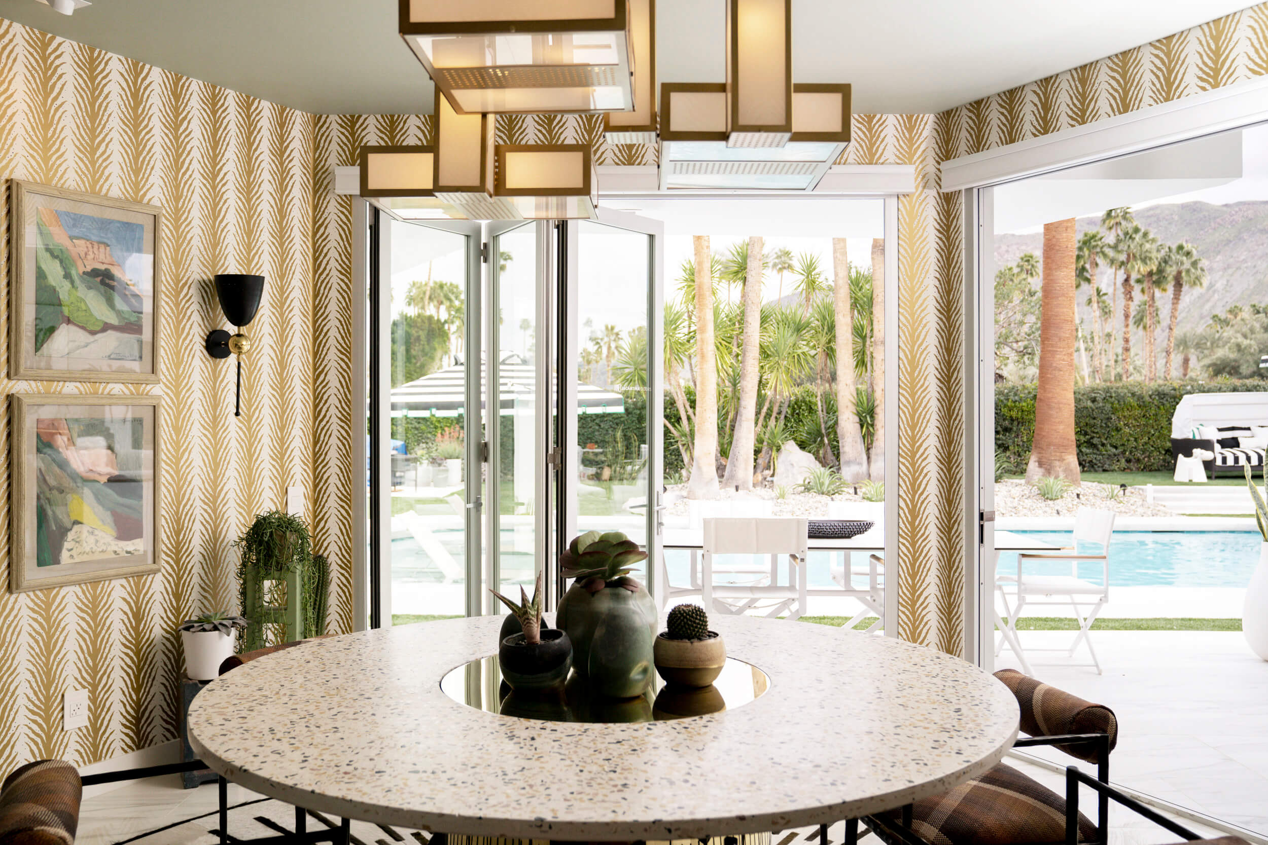 Christopher Kennedy Compound Terrazzo Dining Table