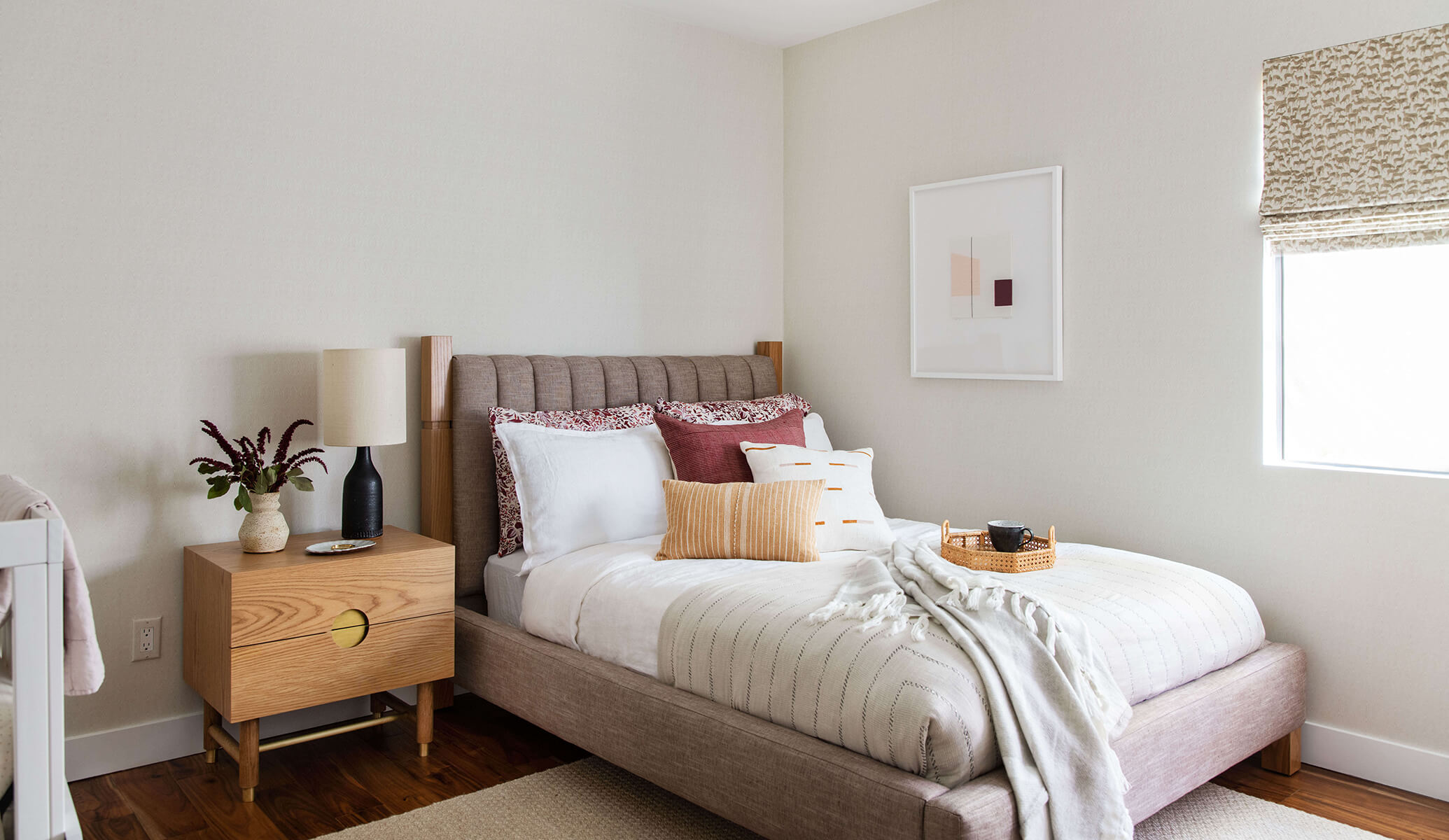 Ginny Macdonald Design guest bedroom using 'Emma' Bed designed by GMD