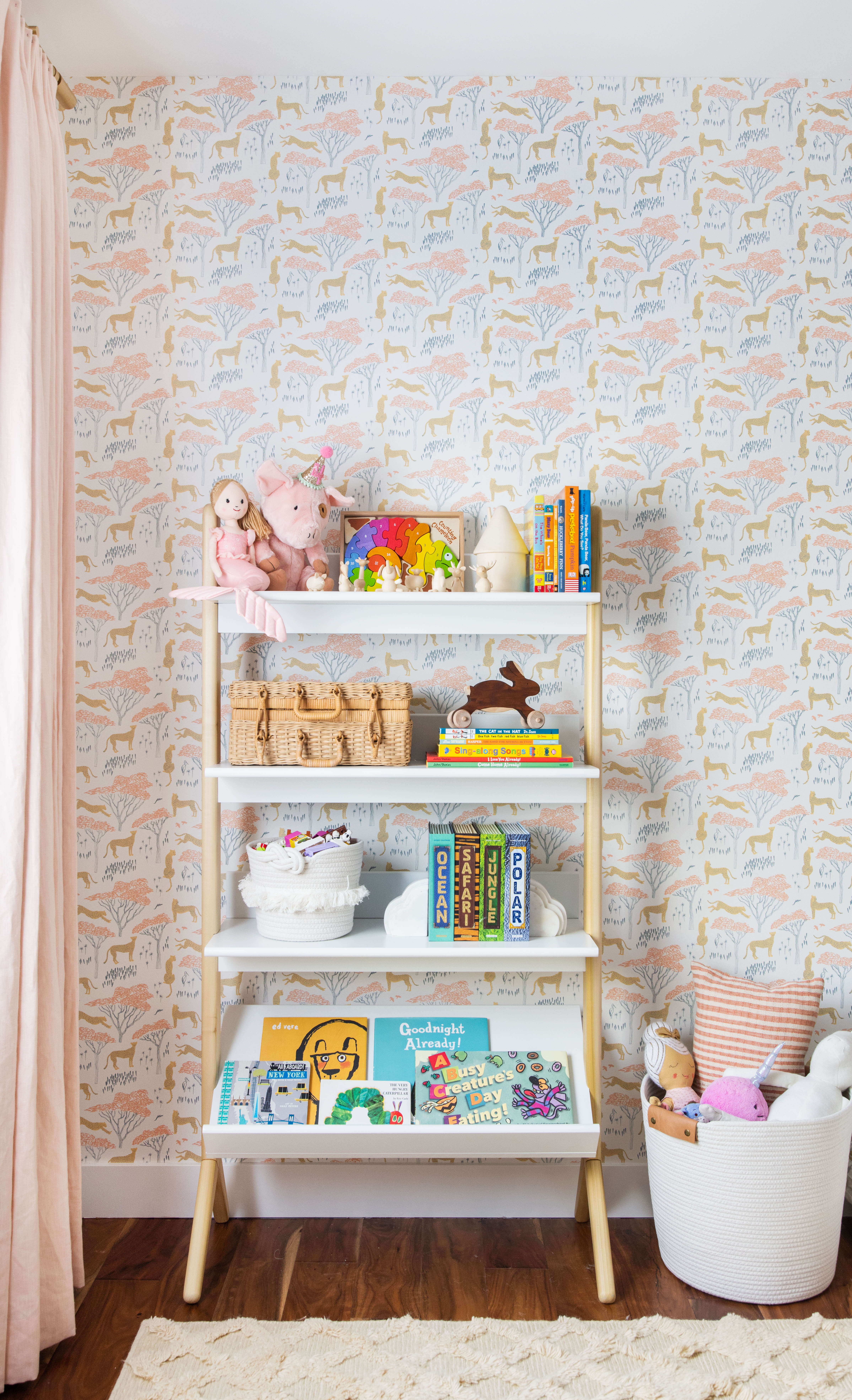 Ginny Macdonald Design girl's bedroom bookcase styling