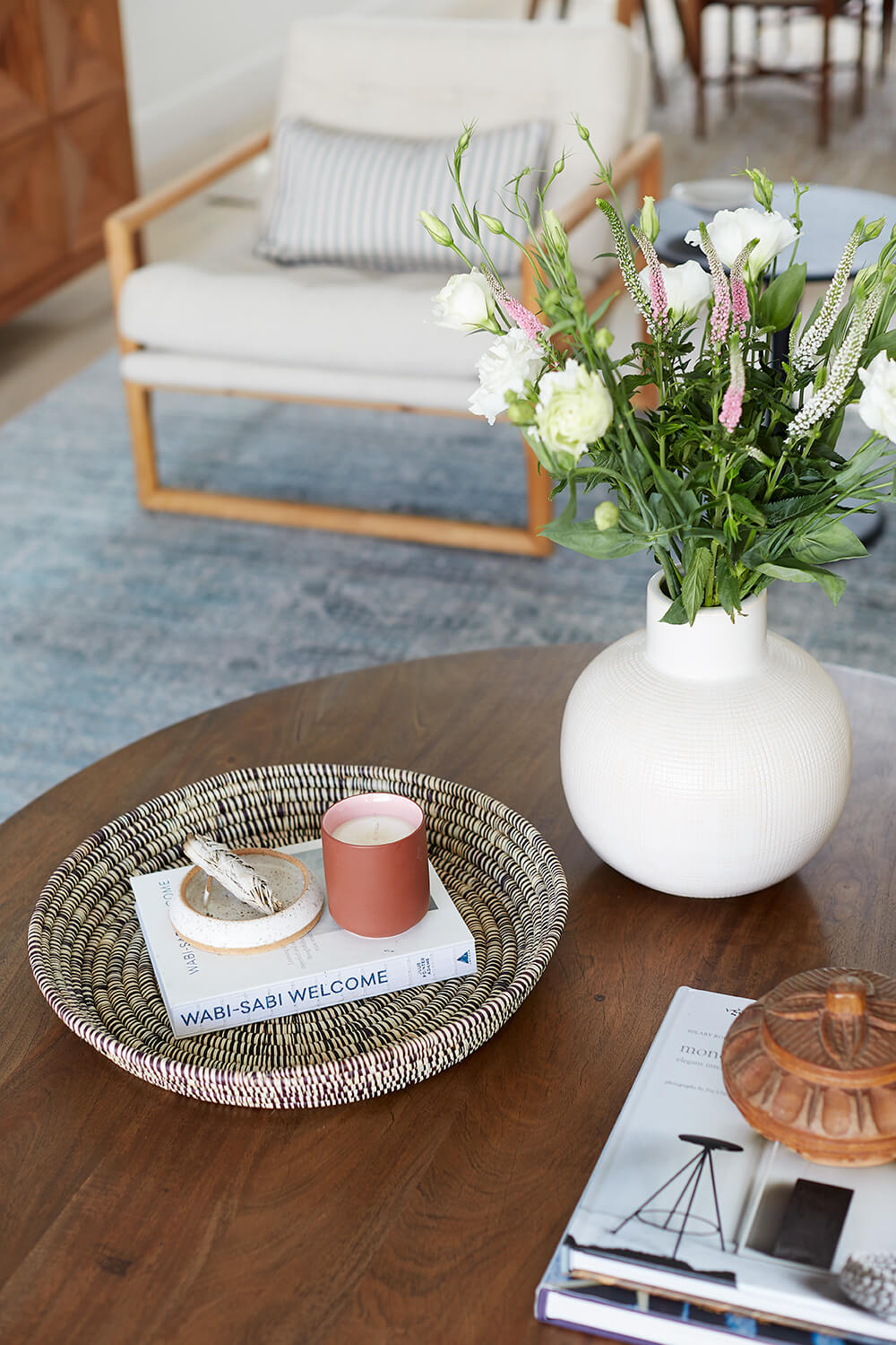 GINNY_MACDONALD_ROUND_WOOD_COFFEE_TABLE