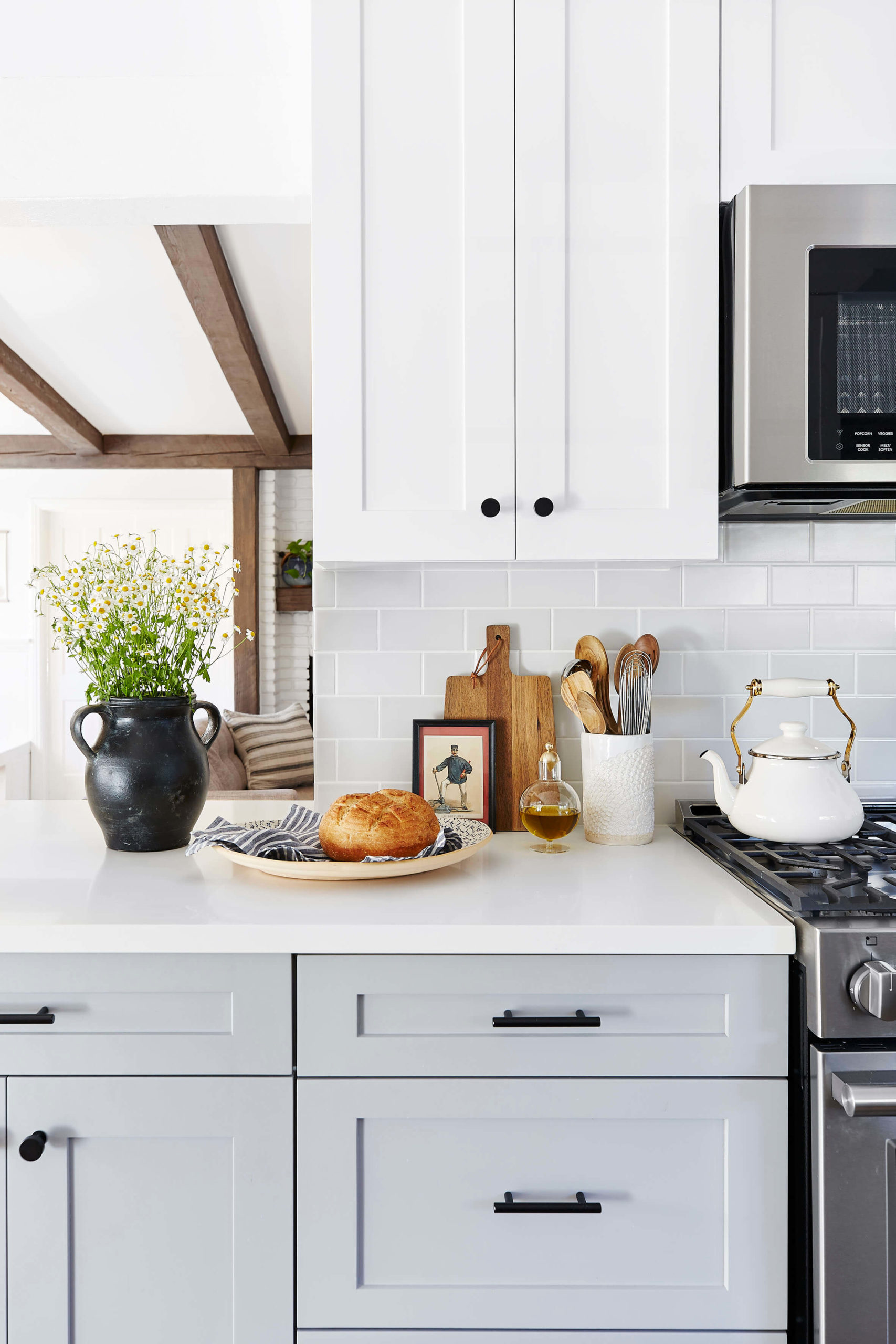 Grey shaker kitchen with traditional styling interior design by Ginny Macdonald Design