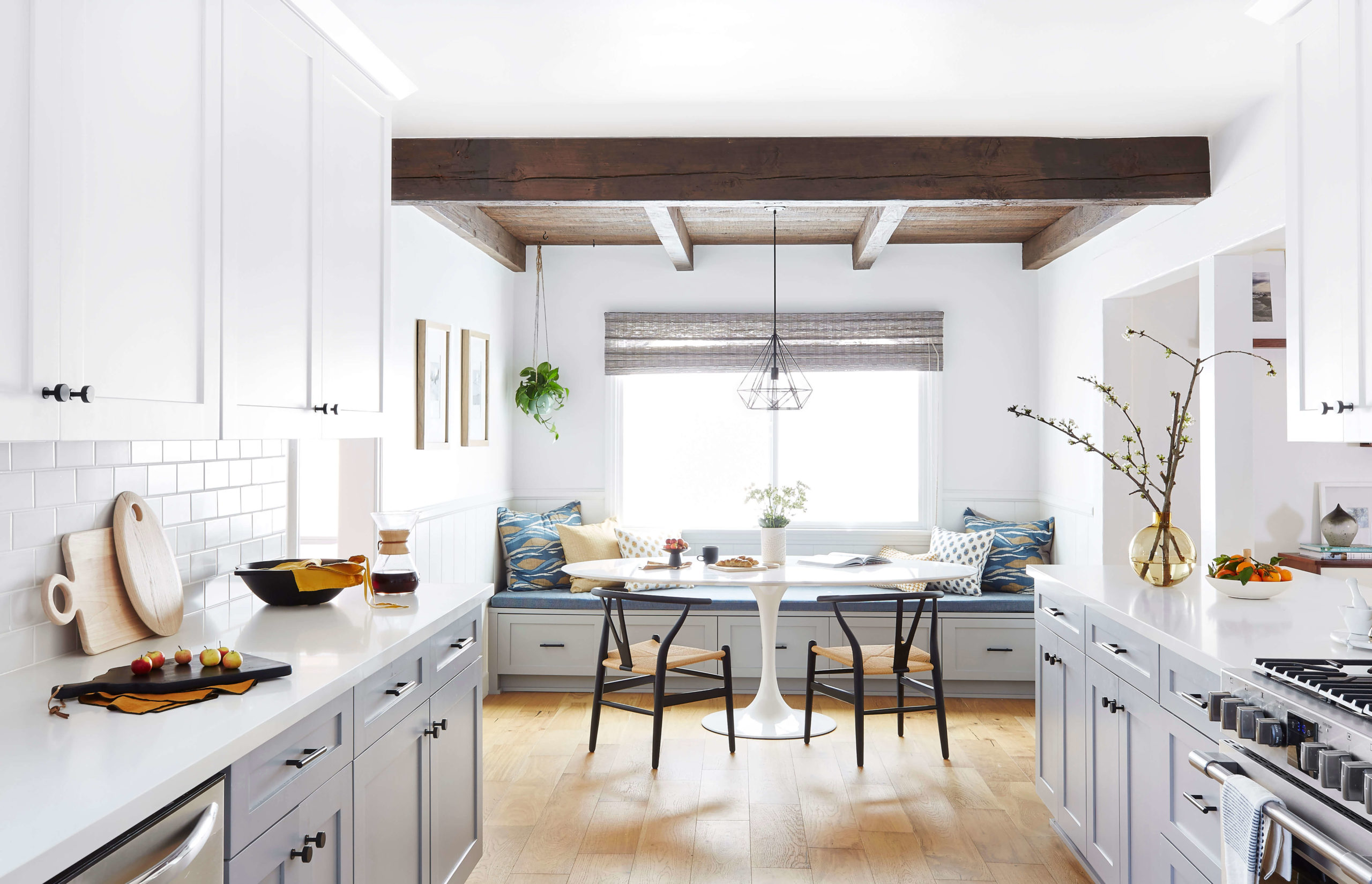 Modern grey and white kitchen interior design by Ginny Macdonald Design