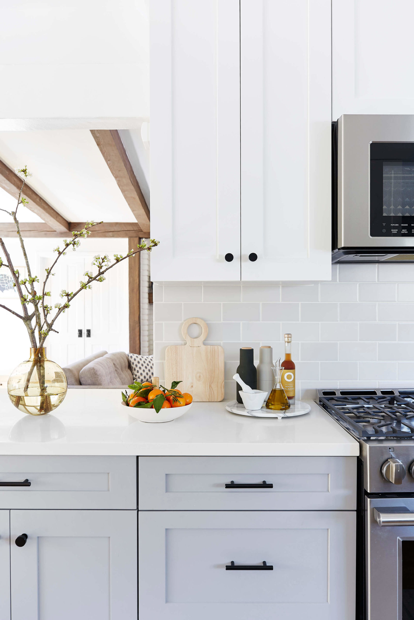Modern kitchen styling interior design by Ginny Macdonald Design