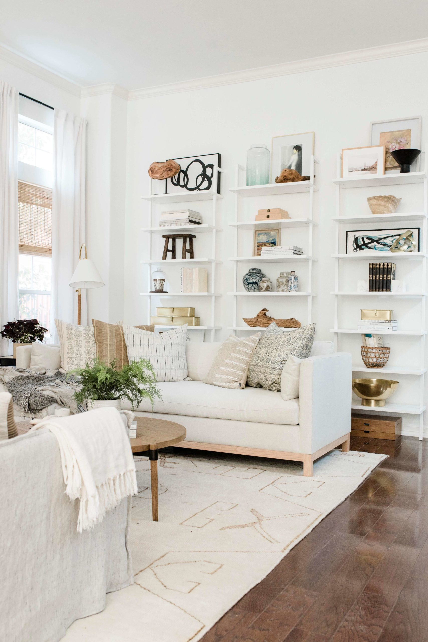 Modern Bright Living Room GMDxLG Furniture Collection Hollingworth Sofa by Los Angeles Designer Ginny Macdonald Design