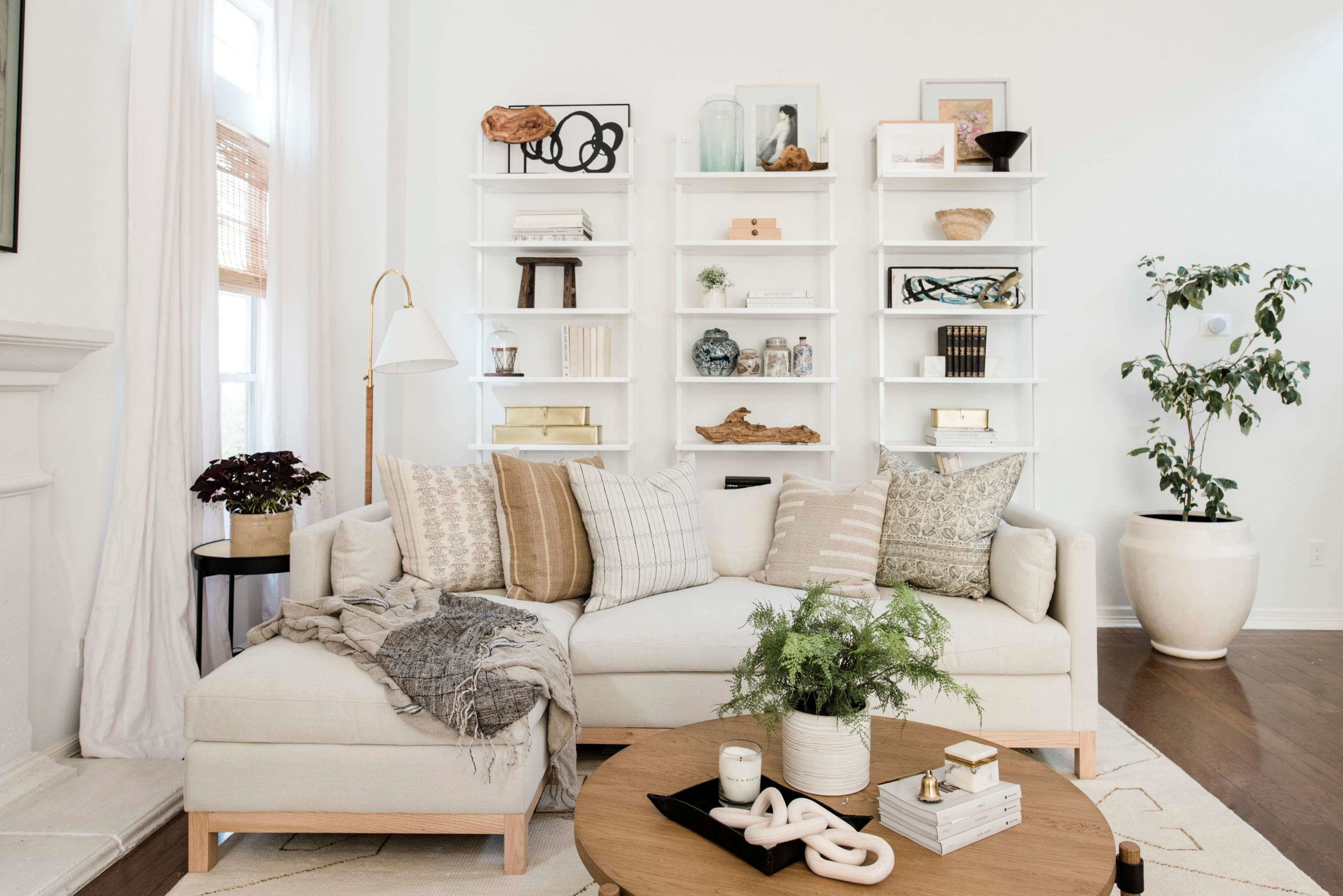 Bright and Airy Living Room GMDxLG Furniture Collection Hollingworth Sofa by Los Angeles Designer Ginny Macdonald Design