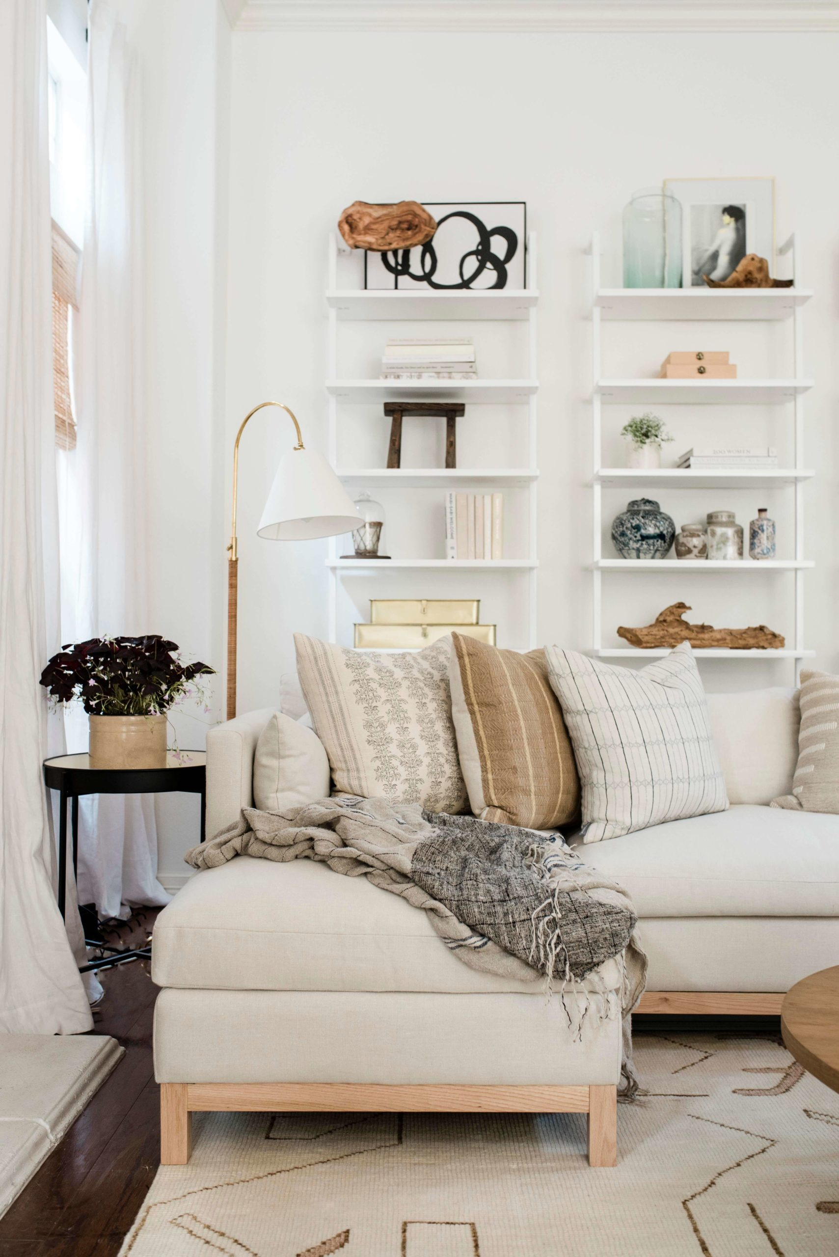 White sectional GMDxLG Furniture Collection Hollingworth Sofa by Los Angeles Designer Ginny Macdonald Design