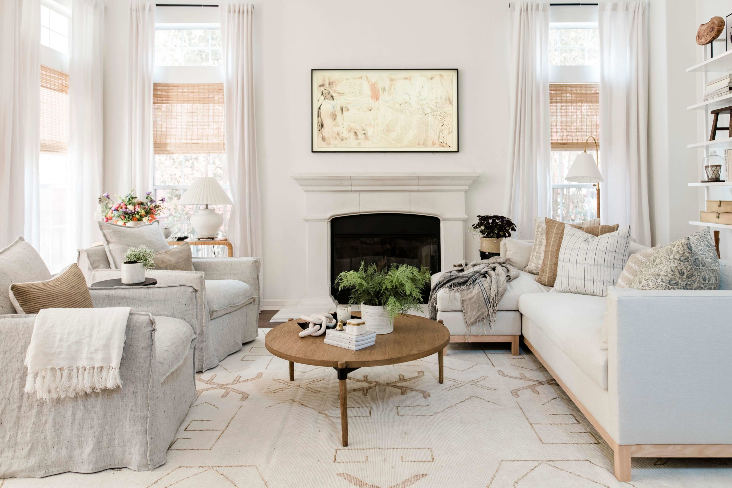 California Coastal Living Room GMDxLG Furniture Collection Hollingworth Sofa by Los Angeles Designer Ginny Macdonald Design